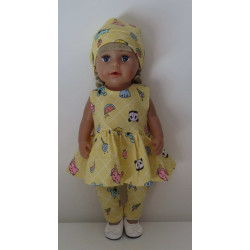 jurk set geel baby born 43cm