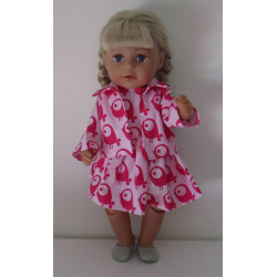 jurk met jas roze vogels...
