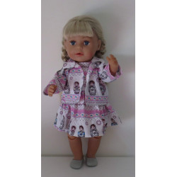 jurk met jas matroeska baby...