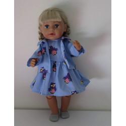 jurk met jas blauw jet baby...