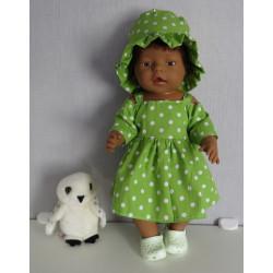 zomerjurk groen polka dots...