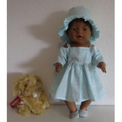 chineese jurk kort blauw...