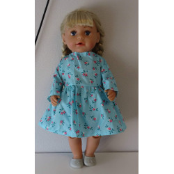 jurk blauw met bloemen baby...