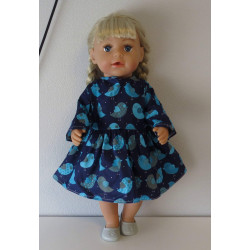 jurk donker blauw met...
