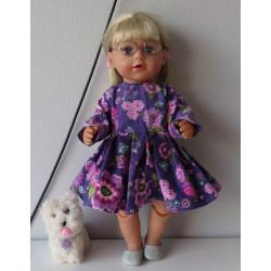 jurk paars met bloemen baby...
