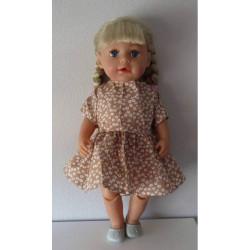 jurk bruin met bloemen baby...