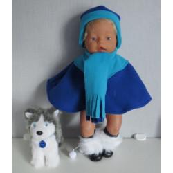 poncho blauw baby born 43cm