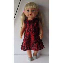 jurk met kant rood baby...