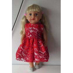 jurk kant rood baby born 43cm