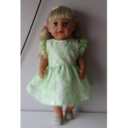 jurk kant licht groen baby...