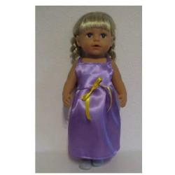 jurk paars lang baby born 43cm
