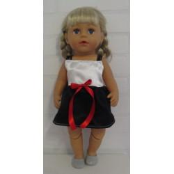 jurk kort zwart wit baby...