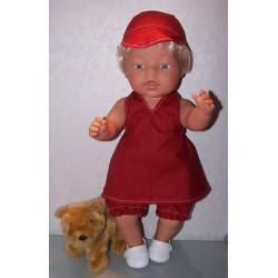 halterjurk setje  rood baby...