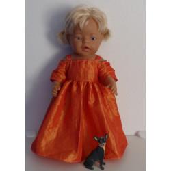 prinsessenjurk oranje baby...