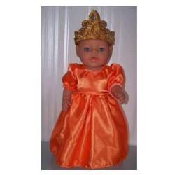 prinsessenjurk baby born 43cm