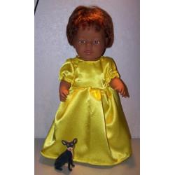prinsessenjurk geel baby...