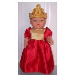 prinsessenjurk rood met...