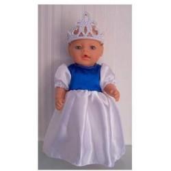 prinsessenjurk wit met...