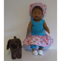 trendy jurk setje roze baby...