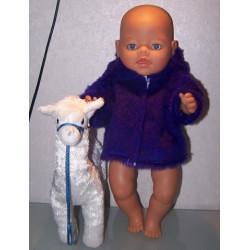 borgjas paars baby born 43cm