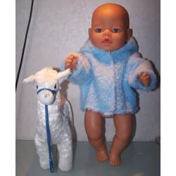 borgjas blauw baby born 43cm