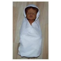omslagdoek wit baby born 43cm