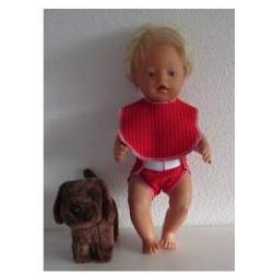 luier met slab rood  baby...