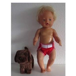 luier rood baby born 43cm