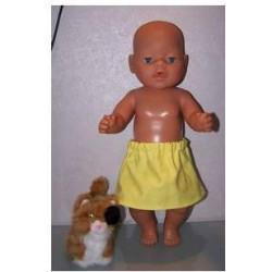 rok geel baby born 43cm