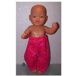 broek hard roze baby born 43cm