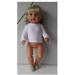 shirtje wit baby born 43cm...
