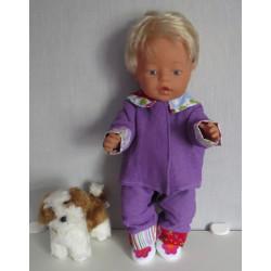 pyjama paars met geblokt...