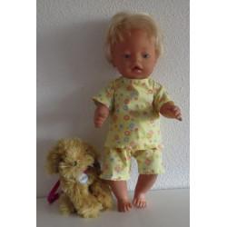slaapset geel baby born 43cm