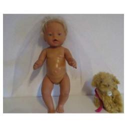 sluier blauw baby born 43cm