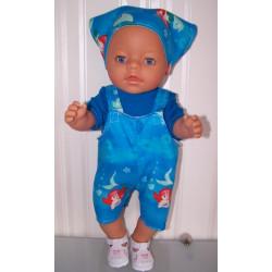 tuinbroek ariel baby born 43cm