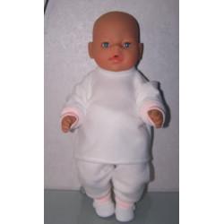 fleecepak roze met wit baby...