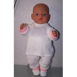 fleecepak met roze baby...