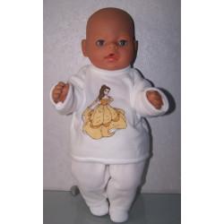 fleecepak bella baby born 43cm