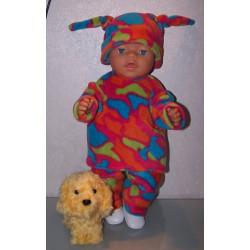fleecepak gekleurd baby...