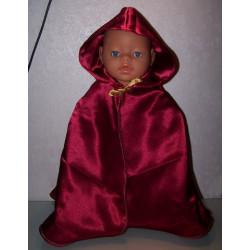 prinsessencape donker rood...