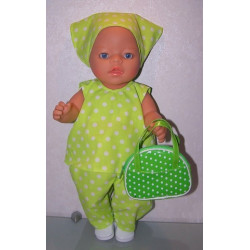 hes setje groen met polka...
