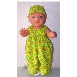 ballonbroek geel met polka...