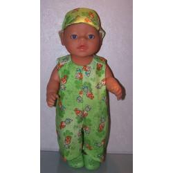 overal groen pebbels baby...