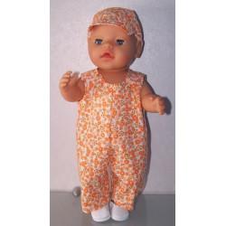 overal oranje gebloemd baby...