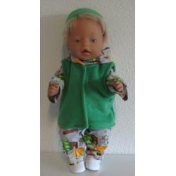 jurk setje groen met konijn...
