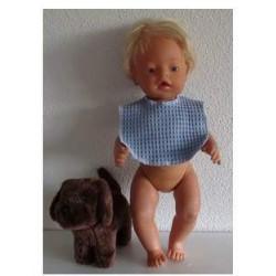 slab blauw baby born 43cm