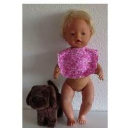 slab roze stippen baby born...