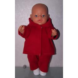 ski-pak rood baby born 43cm