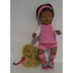 skate setje roze baby born...