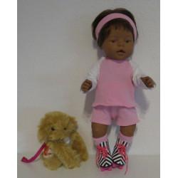 skate setje licht roze baby...